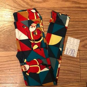 LuLaRoe Christmas Girls Leggings NWT